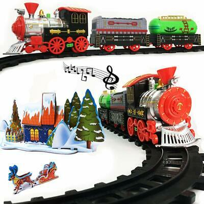 Rentian Christmas Train Set Toy For Under The Tree With Music And Light