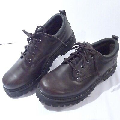 SKECHERS MENS ALLEY Cats Mens Size 8 Brown Leather Casual