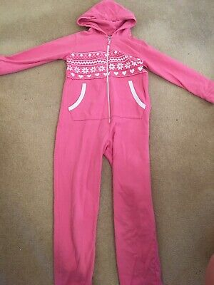 Girls Zoozi (not Gerber) Pink cotton onesie age 9-10 with snowflake design