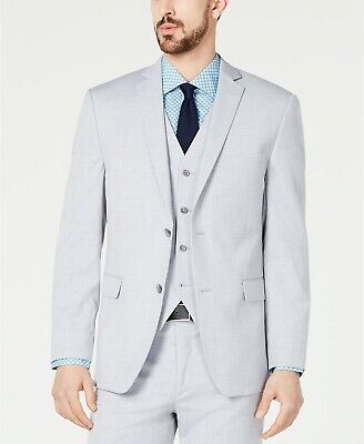 $329 Alfani Men's 44R Gray Slim Fit 2 Button Blazer Suit Jacket Sport Coat