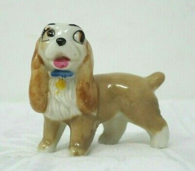 Wade Disney Lady And The Tramp Spaniel Hat Box 1960s   (D1)