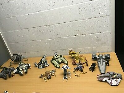 Star Wars Bundle Figures Aat Tank Republic Fighter Sith Infiltrator Slave 1