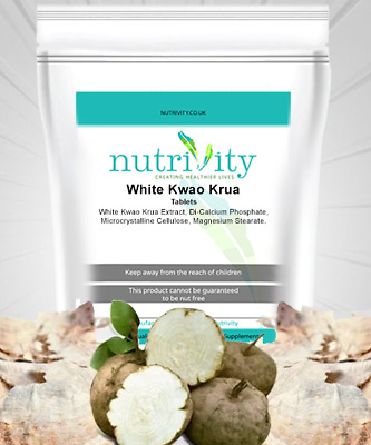 Weight Loss Support - White Kwao-Krua Extract 2500mg Tablets Nutrivity UK Made