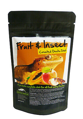 Reptile World Fruit & Insect Gecko Food - Complete Diet - Crested Gecko