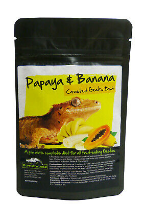 Reptile World Papaya & Banana Gecko Food - Complete Diet - Crested Gecko