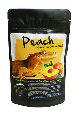 Reptile World Peach Gecko Food - Complete Diet - Crested Gecko - Day Gecko