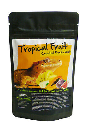 Reptile World Tropical Fruit Gecko Food - Complete Diet - Crested Gecko