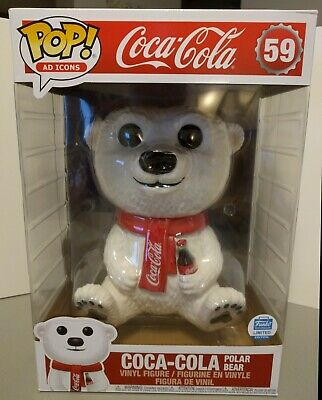 "Funko Pop! Ad Icons #59 Coca-Cola Polar Bear 10"" Inch *Box is 9/10* DBL BOXED"