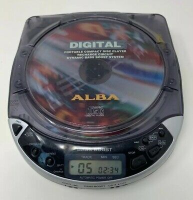 Alba Portable Compact Disc Player - Pcd264Sil - Tested Working