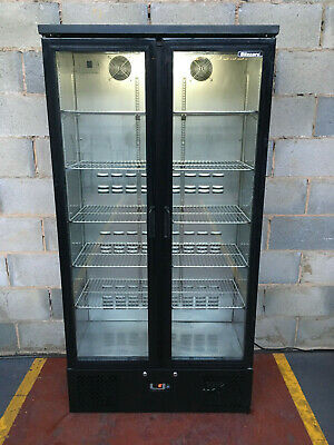 Blizzard Tall Upright 2 Door Drinks Display/ Bar Chiller/ Cooler/ Fridge