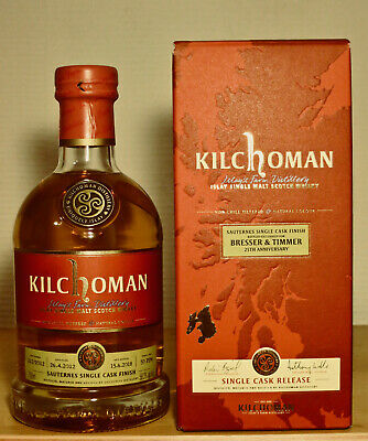 KILCHOMAN  2012/2018  Sauternes Single Cask Finish, 58,3%vol. 0,7l, B.&T. Anniv.