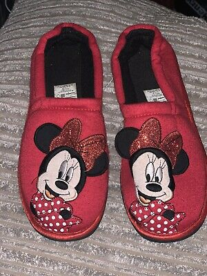 Girls Disney Minnie Mouse Slippers Size 1-2