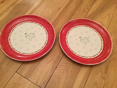 Portmeirion Christmas Wish Dinner Plates X 2 Never Used