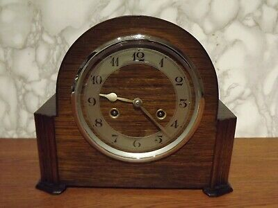 An English 8 Day Striking Mantel Clock Of Unknown Manufacturer Circa 1940'S