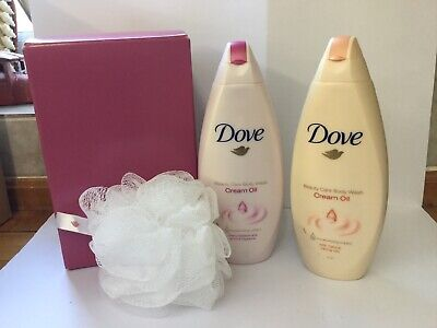 DOVE CREAM OIL DUO SHOWER BATH BODY WASH GIFT SET New But Has Been Opened