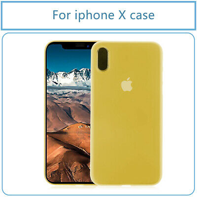 New Ultra-Thin Slim Colored Yellow Matte PC Shell Case Cover for iPhone X