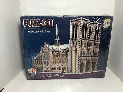 Puzz 3D Notre Dame Cathedral Paris 952 Pieces Jigsaw Puzzle SEALED - Box Damage