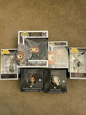 Lot of 6 Game Of Thrones Funko POP! Rock Candy And Five Star Figures NEW