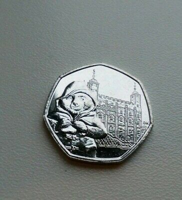 PADDINGTON BEAR AT TOWER OF LONDON 50p COIN 2019 UNCIRCULATED FROM SEALED BAG