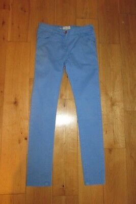 Cornflower Blue Girls Skinny Jeans . Age 9-10. Marks And Spencers.vgc.