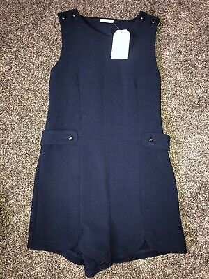 Next Girls Age 7 Years Navy Playsuit BNWT RRP £22