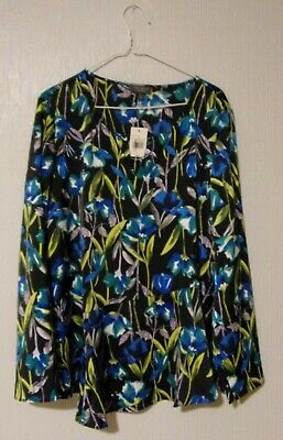"NWT The Limited Collection Women's Sz XL LS Blouse ""Winter Stem Floral"" GORGEOUS"
