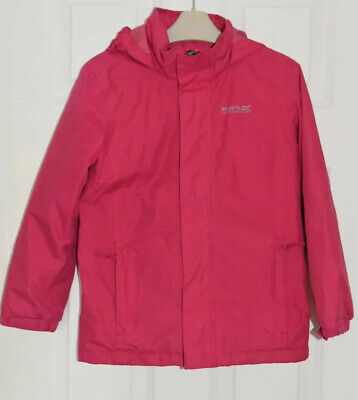 Girls Regatta Size 7-8 Years (EUR128) Pink Waterproof & Fleece Lined Jacket  VGC