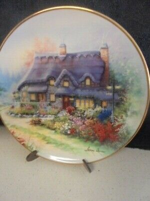 ROYAL DOULTON Franklin Mint 'The Cottage on Swan Lake' Limited Edition PLATE