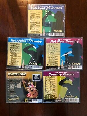 LOT 5 Karaoke cds cdgs Country Greats Hot Artists Love New Sealed