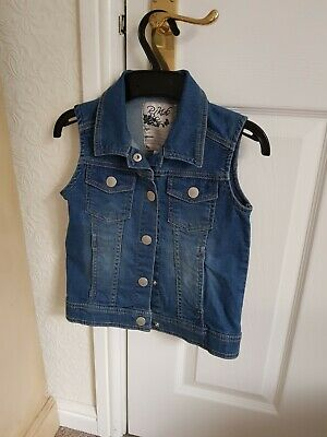 Denim Sleeveless Jacket 8 Yrs