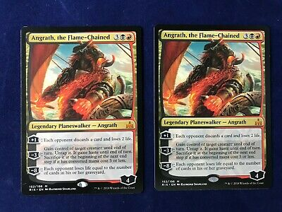 MTG Magic the Gathering Angrath the Flame-Chained Rivals of Ixalan x2