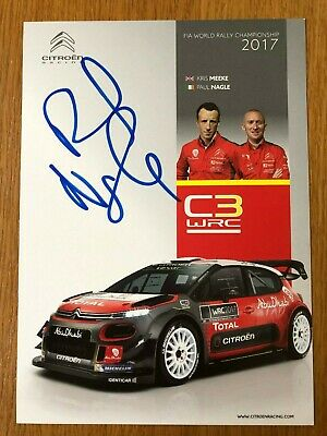 Paul Nagle Signed (Kris Meeke Co-Driver) Citreon Wrc World Rally 2017 Photocard