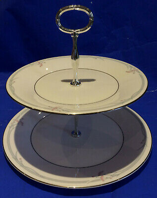 Royal Doulton 1982 Tableware Carnation 2 Tier Cake Stand. H5084