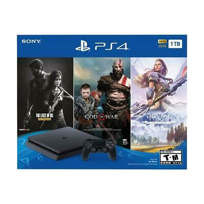 Sony PlayStation 4 PS4 Slim 1TB Console 3 Game Bundle - Brand New
