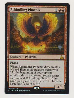 MTG Magic the Gathering Rekindling Phoenix Rivals of Ixalan Foil Promo Stamped