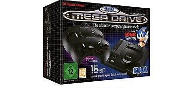 Official SEGA MegaDrive Mini Classic Boxed With Two Controllers.