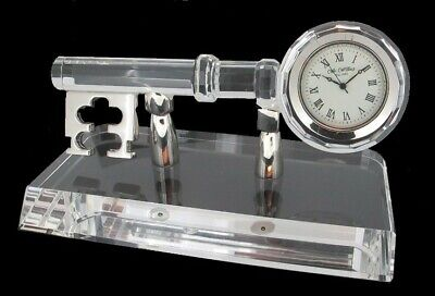 Crystal Key Clock with a Crystal Stand, Brand New, In its box, W9479.