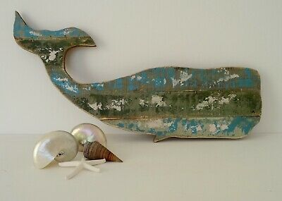 Large Reclaimed Wooden Steven Seahorse Wall Hanging Nautical Seaside 61x32cm