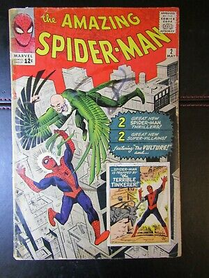 Amazing Spider-Man No.2 comicbook. The Vulture. May 1963. Marvel. US cents copy.