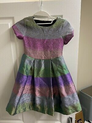Next Girls Bright Glittery Sparkle Dress - Age: 7 Years - Hardly Worn
