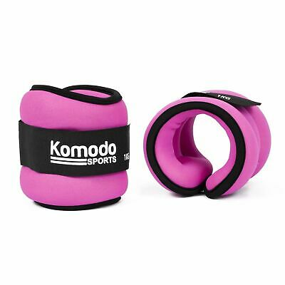 Pink Neoprene Ankle Wrist Weights Training Running Fitness Workout Exercise