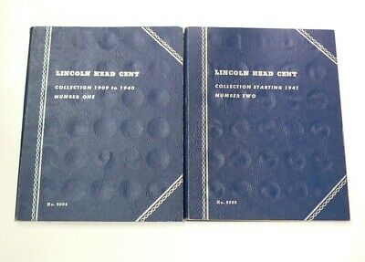 US 113 Lincoln Head Cents Pennies 2 Whitman Albums 1909 to 1963 #3205