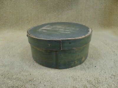 Antique 19th c Authentic Round Pantry Spice Box Hand Painted Signed L.Kendall