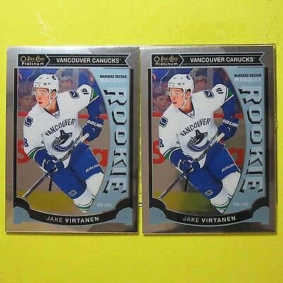 "(Lot of 2) JAKE VIRTANEN  2015-16 "" ROOKIE OPC PLATINUM "" #M40 Vancouver Canucks"