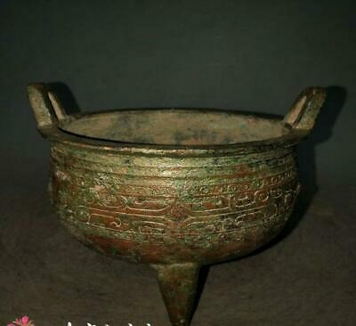 Beautiful Chinese Antqiue Warring States Bronze tripod Ding