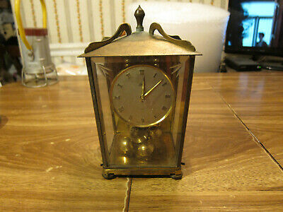 Vintage Germany Aug. Schatz & Sohne Brass 400 Carriage Clock 53 parts or repair