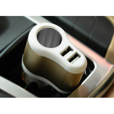 Dual USB Car Cigarette Lighter Socket Splitter Charger Power Adapter Outlet