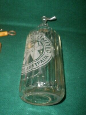 Vintage TOOTH & CO LIMITED SYDNEY SODA SYPHON BLUE BOW