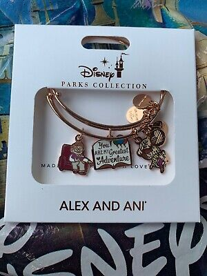 Disney Alex And Ani Carl/Ellie You Are My Greatest Adventure Rose Gold SET