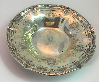 Antique Sterling Louis XIV FLUTED Candy Dish #9299 Pat Dec, 23 1919 Early TOWLE